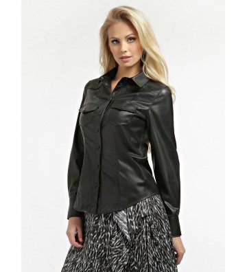 GUESS FAUX LEATHER SHIRT...